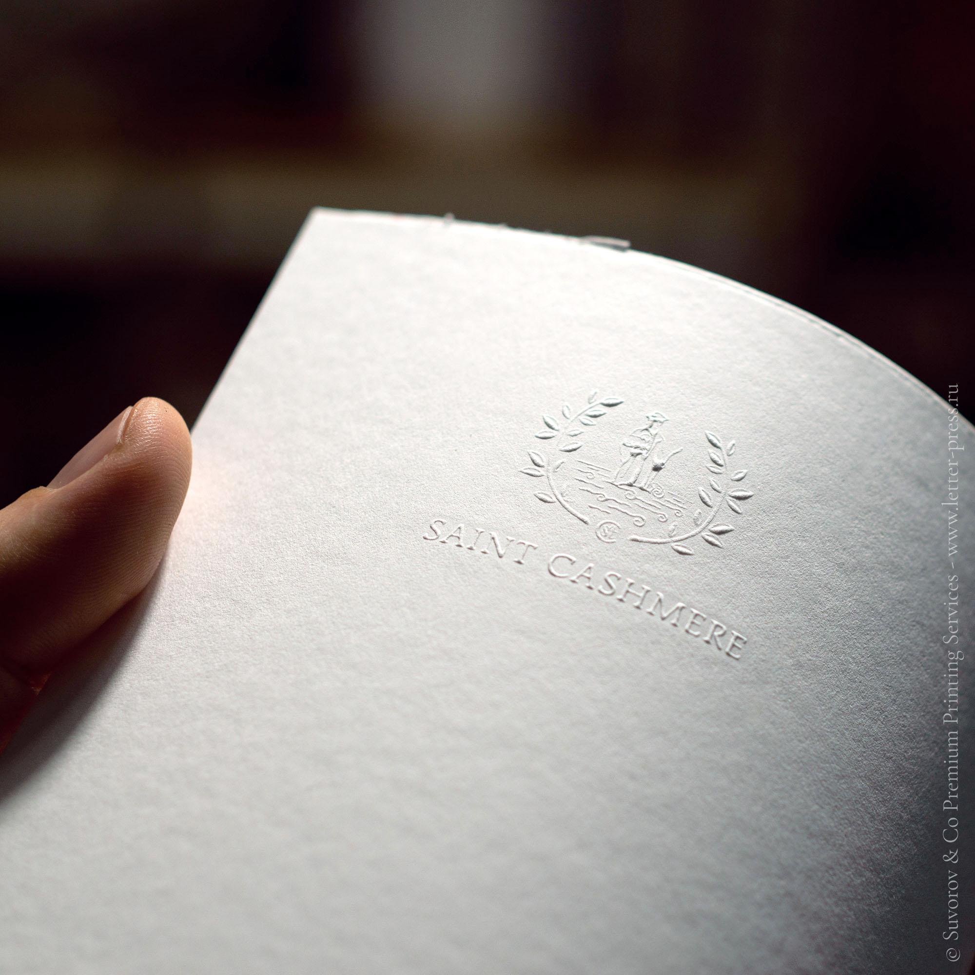 Конгревное тиснение логотипа